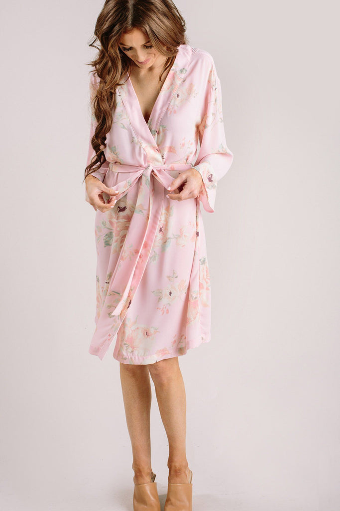 Sienna Floral Robe Loungewear & Intimates Everly Blush Medium