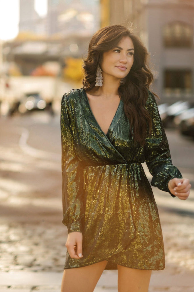 Arlene Green Sequin Dress