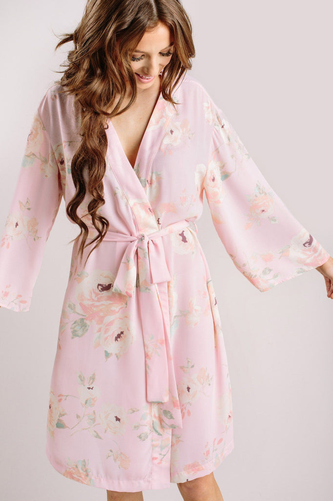 Sienna Floral Robe Loungewear & Intimates Everly Blush XS