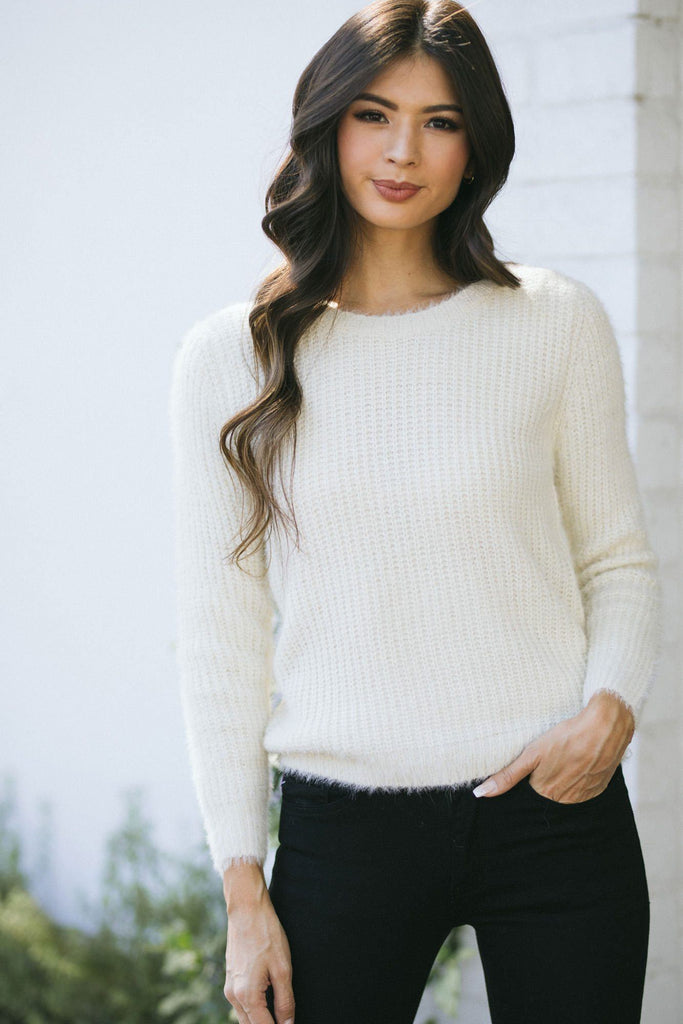Elizabeth Pullover Sweater Sweaters Dreamers Ivory X-Small/Small