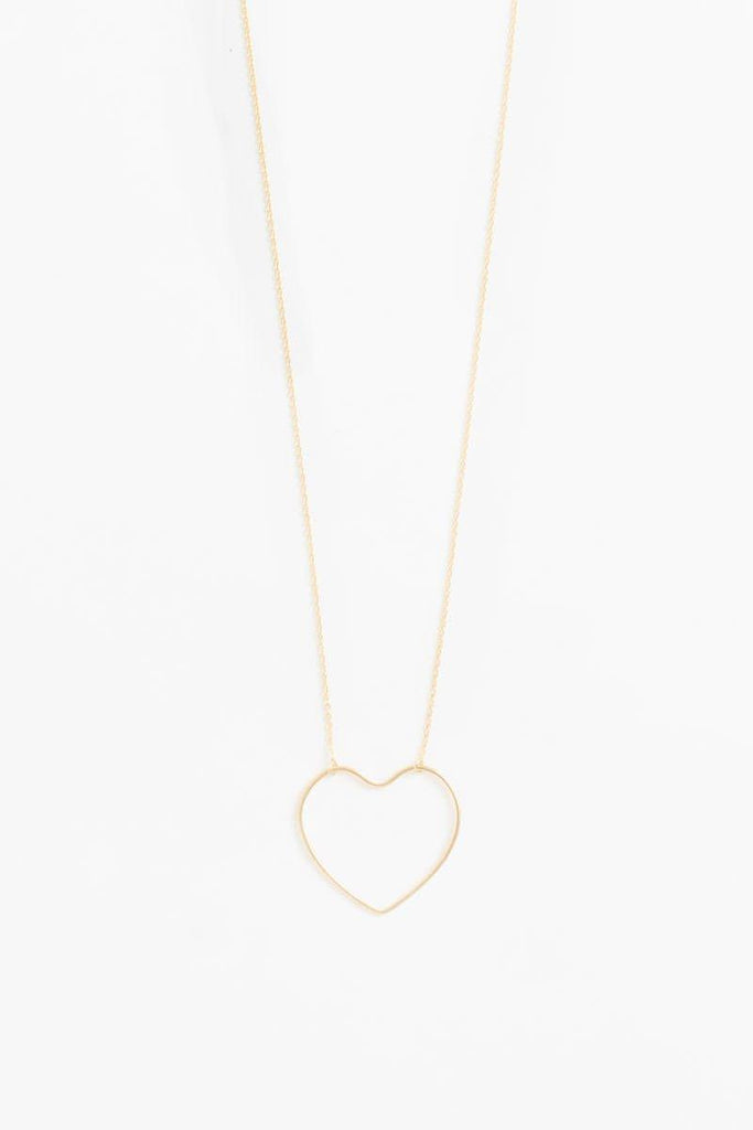 Sophie Heart Outline Dainty Gold Necklace Necklaces FAME