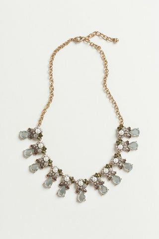 Tiana Dark Grey Crystal Statement Necklace