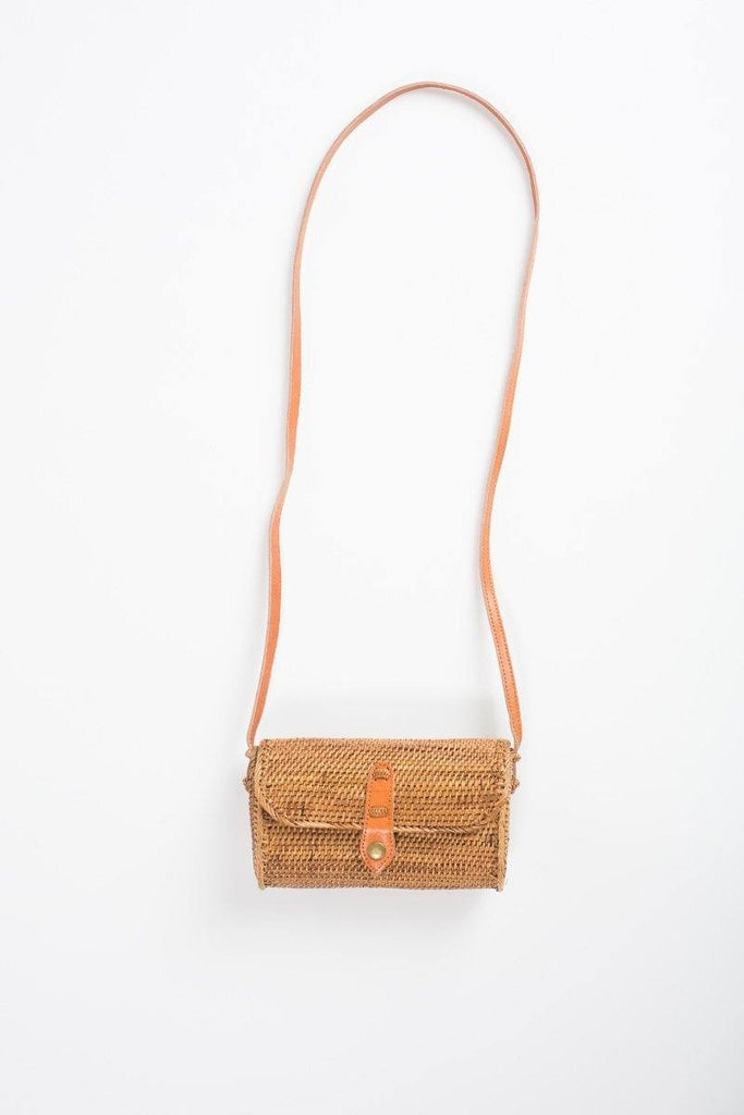 Kara Rectangular Straw Handbag