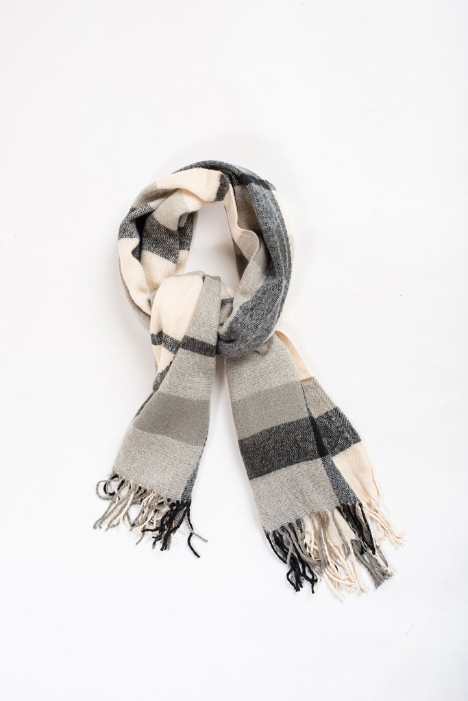 Ria Black Plaid Scarf Scarves JOIA