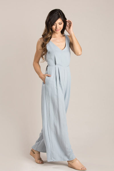 Abigail Tie Back Jumpsuit Jumpsuits Millibon Chambray Small