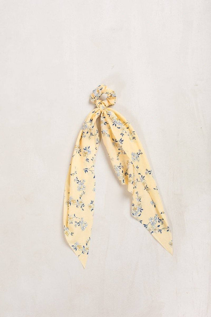 Trinity Yellow Floral Scrunchie Hair Fame Yellow