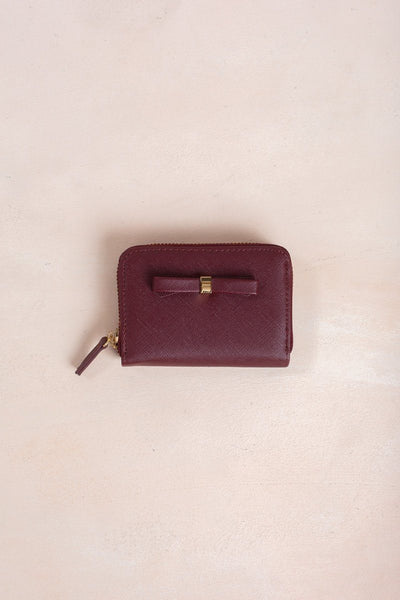 Becky Burgundy Bow Wallet Handbags MMS & Trading Burgundy