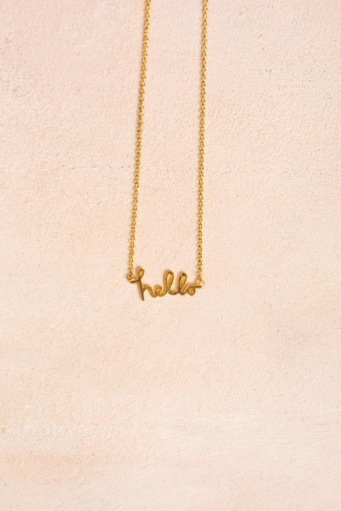 Heather Hello Gold Necklace Necklaces Other Gold