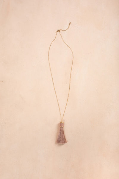 Jennifer Mauve Tassel Necklace Necklaces Fame