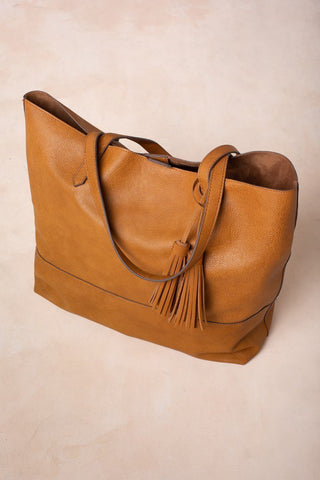 Jordyn Brown Large Shopper Tote Handbags Street Level Brown