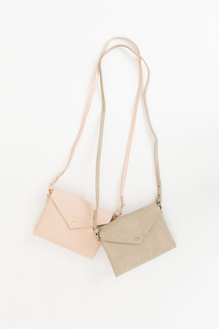 Sheila Taupe Envelope Crossbody Bag