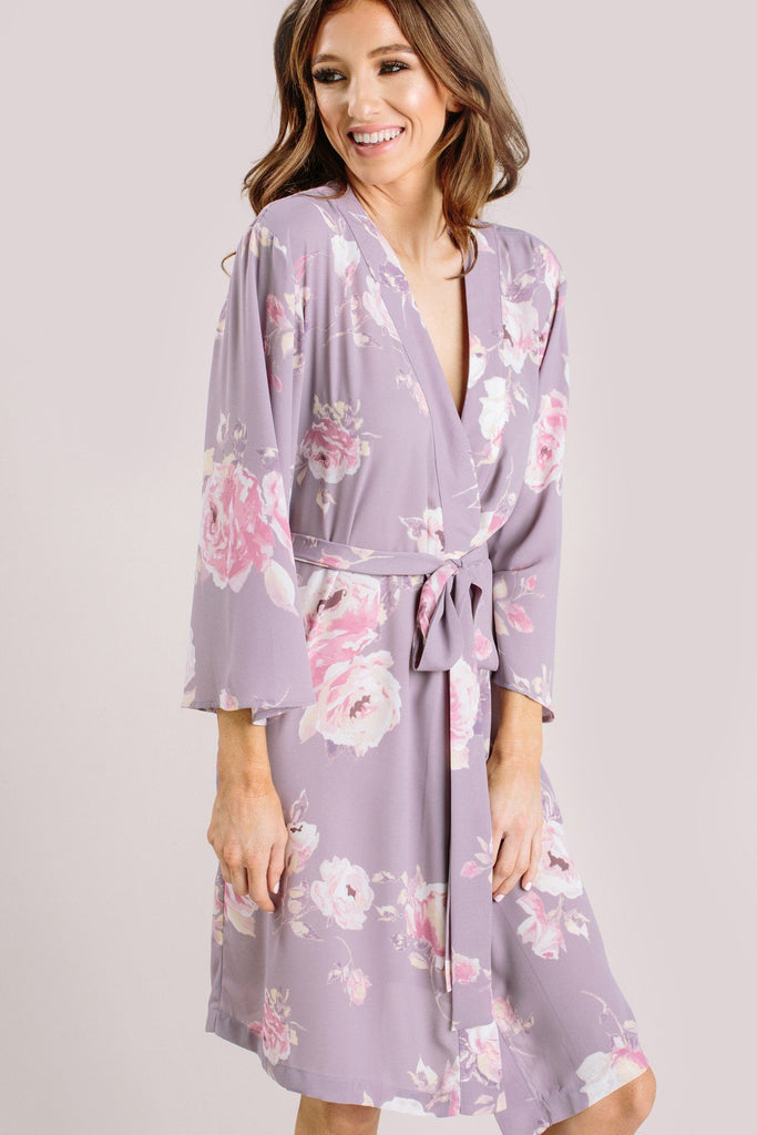 Sienna Floral Robe Loungewear & Intimates Everly Lavender Medium