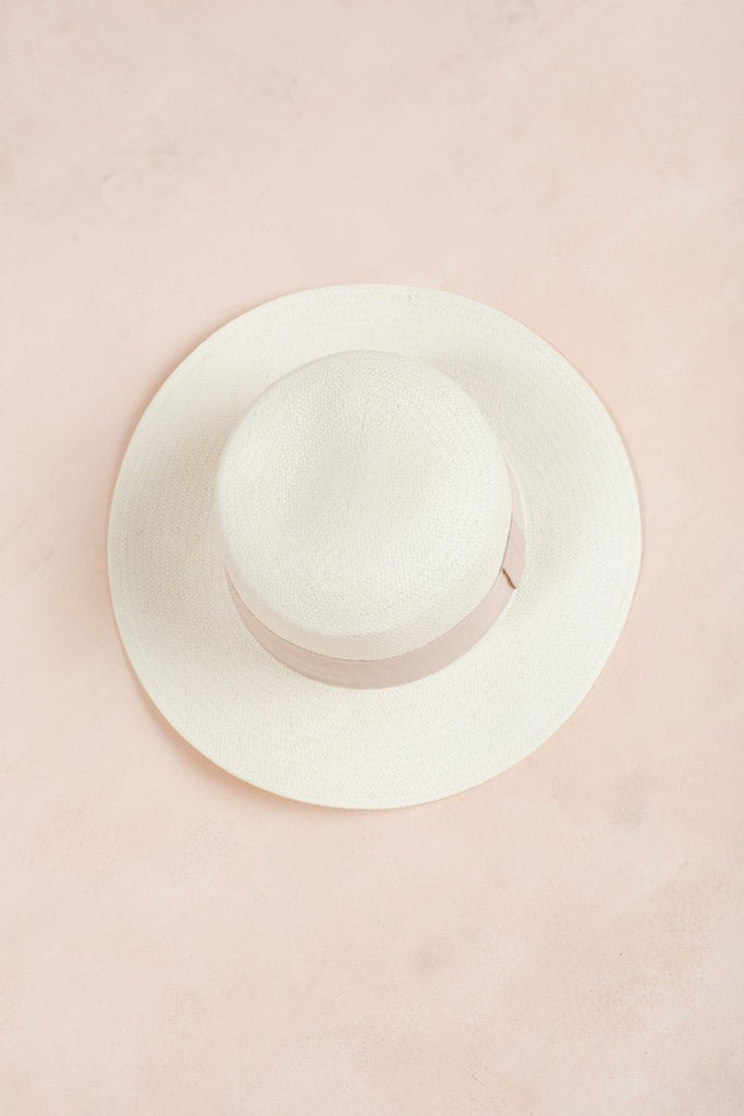 Fiona Tan Ribbon Hat Hats FAME Tan