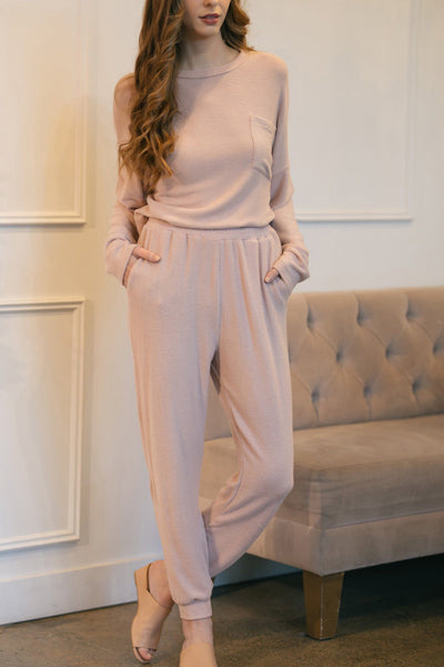 Brandy Knit Joggers Loungewear & Intimates Everly Dusty Rose Small
