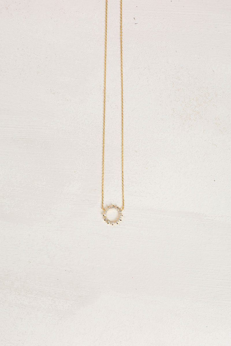 b10d2e305 Sherrie Crystal Halo Dainty Necklace Necklaces FAME Crystal. Sherrie  Crystal Halo Dainty Necklace Necklaces FAME Crystal