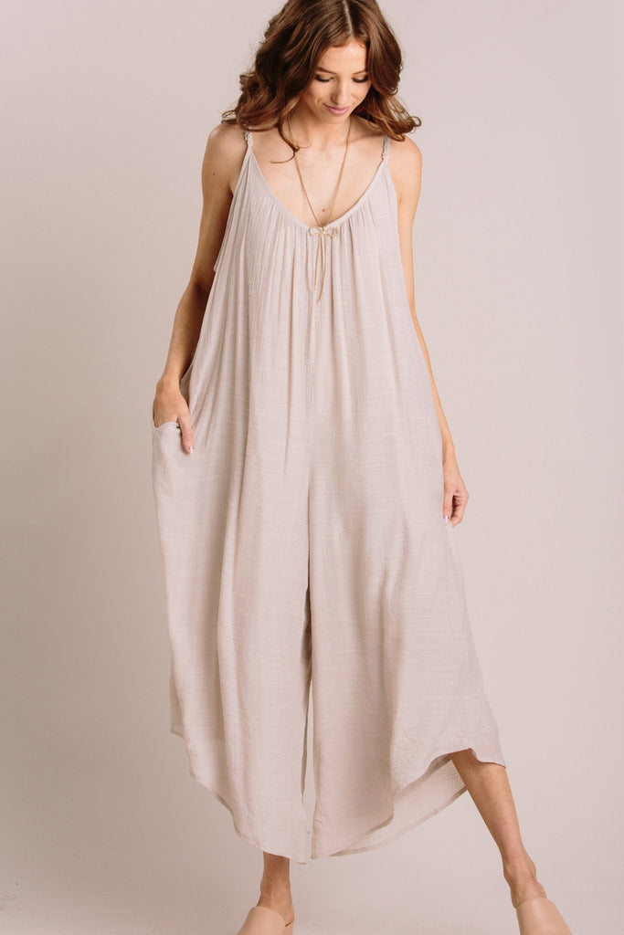 Maeve Relaxed Jumpsuit Jumpsuits WISHLIST Natural Small