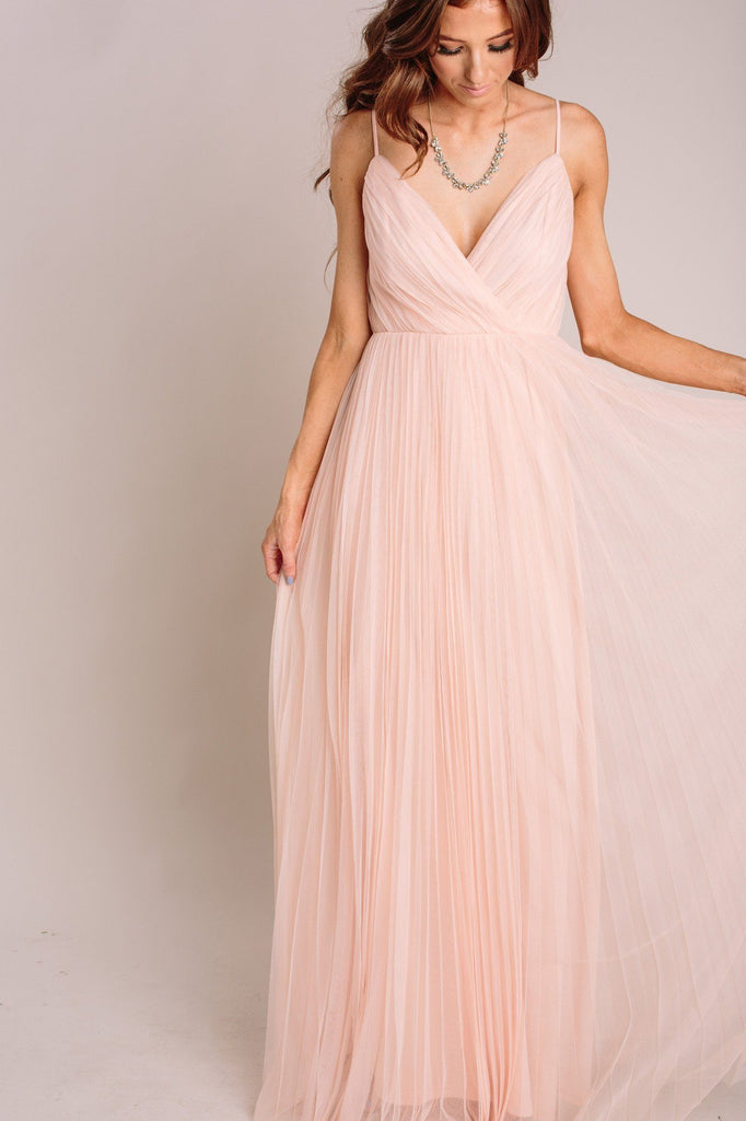 Scarlett Tulle Pleated Maxi Dress