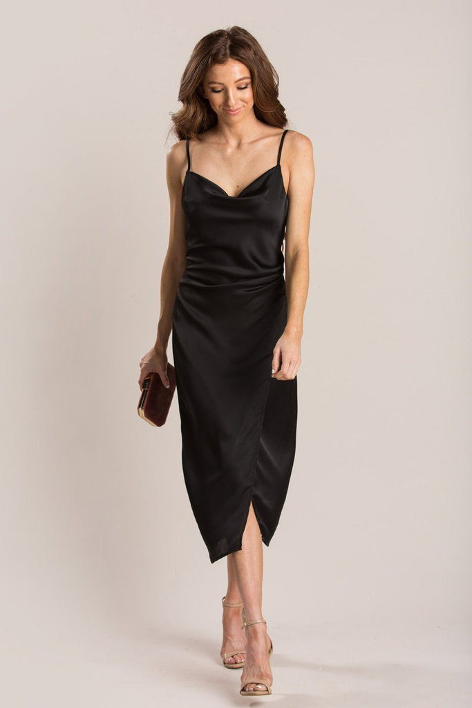 Maddy Slip Dress Dresses Re:Named Black Small