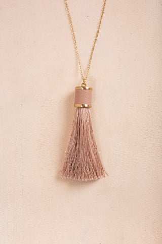 Jennifer Mauve Tassel Necklace Necklaces Fame Mauve