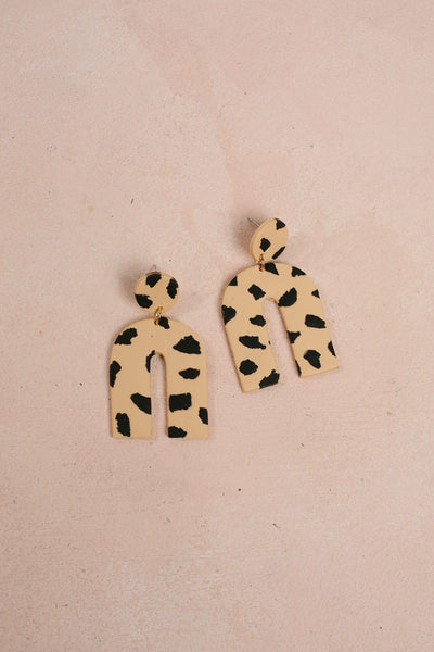 Resilient Handmade Clay Earrings Earrings &everlasting Leopard