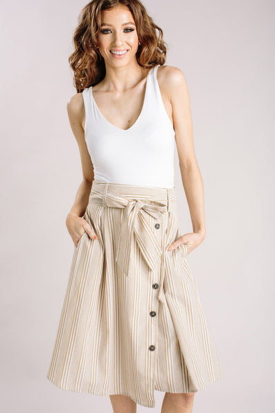 Maddy Ivory Sleeveless V-Neck Top Tops Final Touch