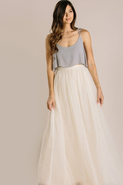 Anabelle Tulle Maxi Skirt Skirts Maniju Ivory X-Small