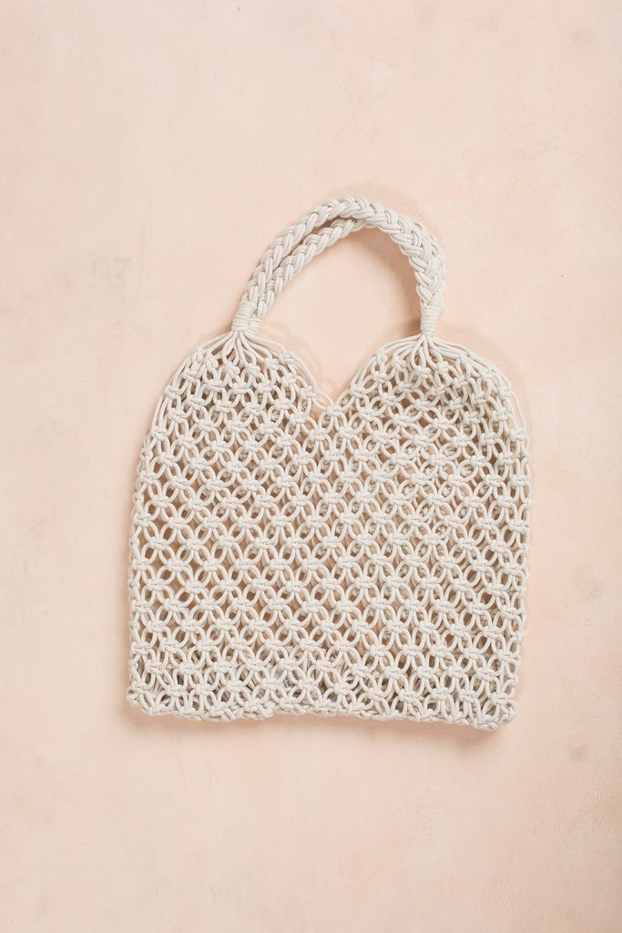 Lina Crochet Bag Handbags Fame Ivory