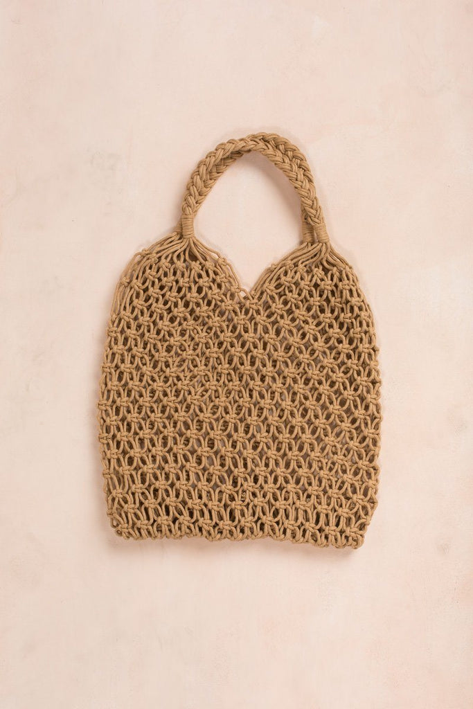 Lina Crochet Bag Handbags Fame Dark Tan