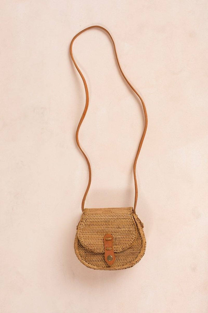 Alana Straw Saddle Bag Handbags Street Level Straw