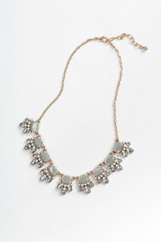 Kathryn Slate Crystal Statement Necklace