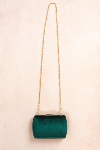 Mellie Velvet Clutch