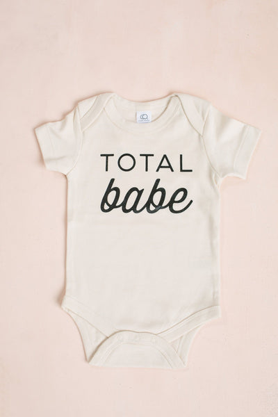 Total Babe Organic Baby Bodysuit Kids The Oyster's Pearl Organic Total Babe 3-6m
