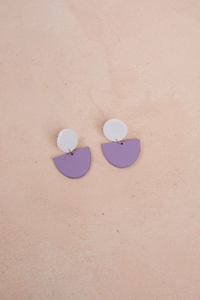 Dedication Handmade Clay Earrings Earrings &everlasting Lavender