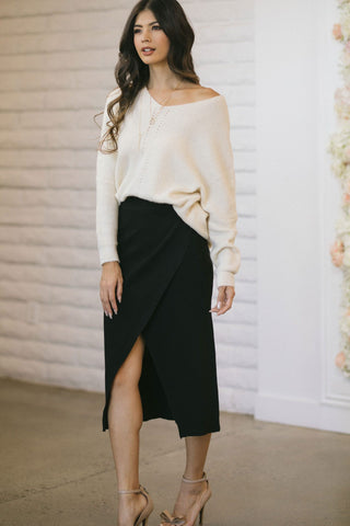 Skylar Knit Midi Skirt Skirts Mable