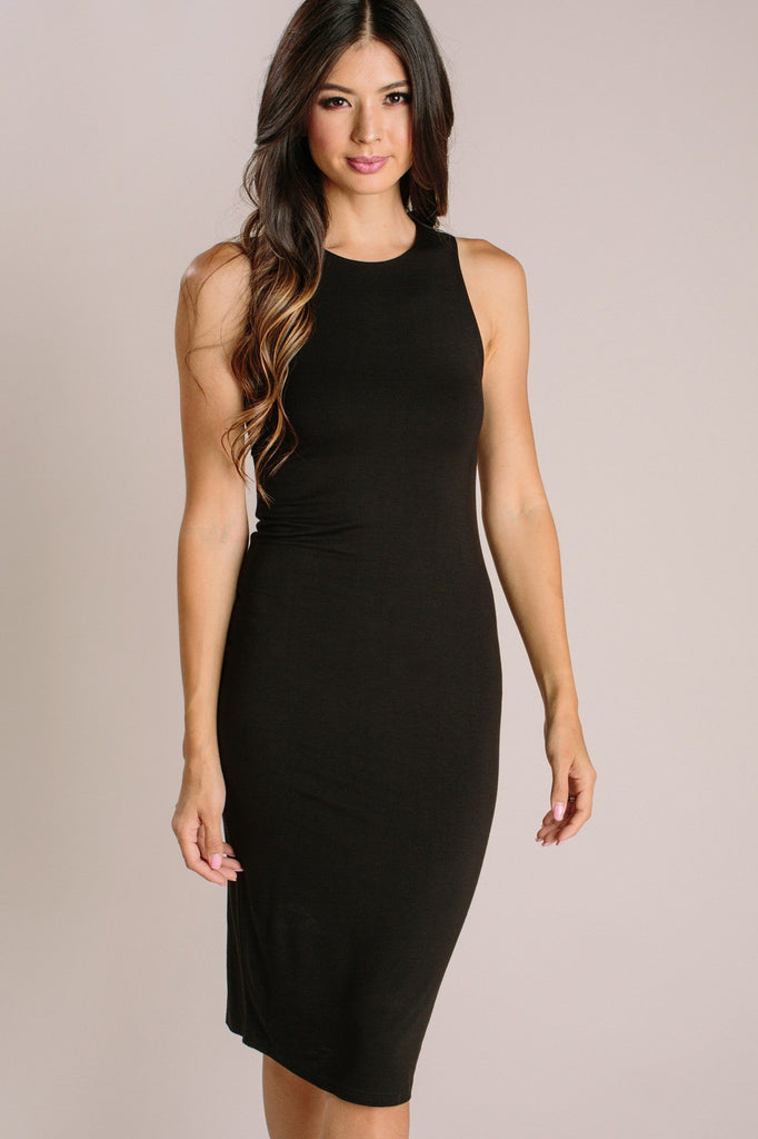 Liza Fitted Midi Dress Dresses Final Touch