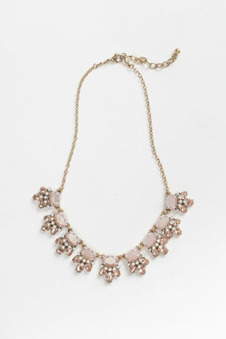 Kathryn Mauve Crystal Statement Necklace