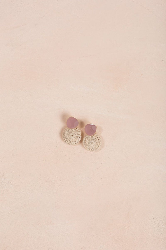 Lindi Crochet Dangle Earrings Earrings Ana Pink