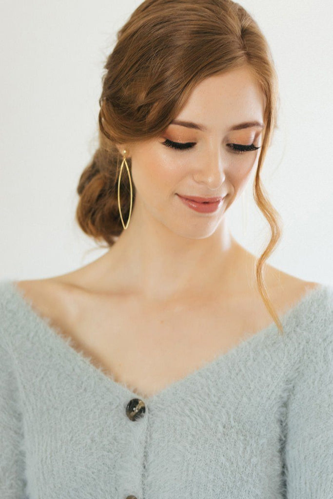 Bailee Gold Hang Earrings Earrings JOIA Gold