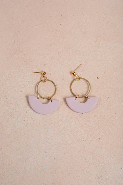 Blushing Handmade Clay Earrings Earrings &everlasting Mauve