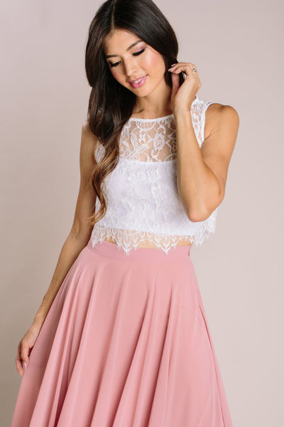 Celeste Sleeveless Lace Top Tops Maniju White X-Small