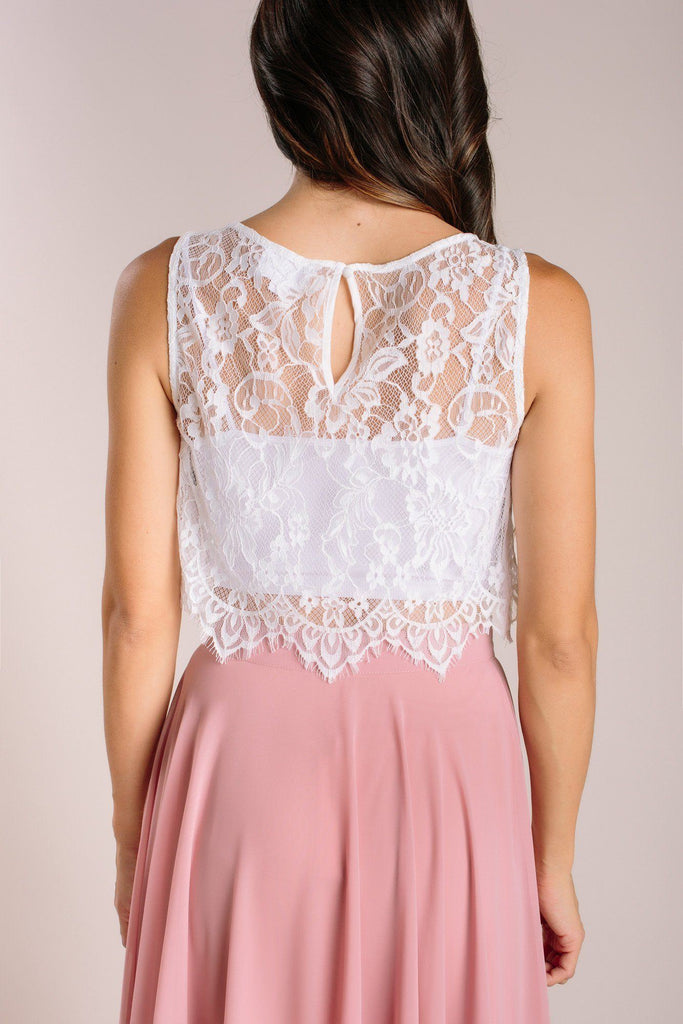 Celeste Sleeveless Lace Top Tops Maniju