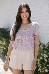Yvette Tiered Ruffle Blouse
