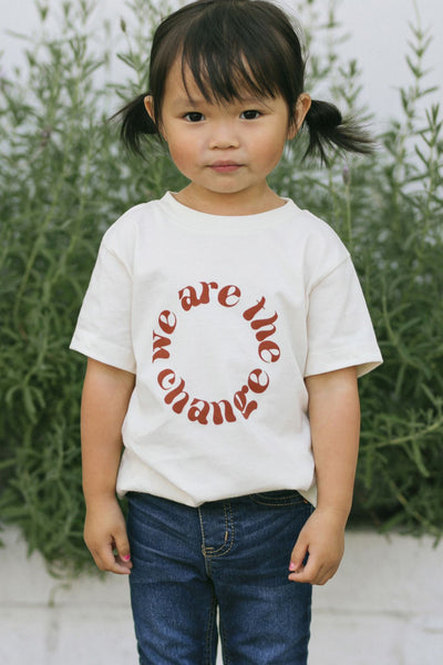Kids We Are the Change Tee Kids Polished Prints Natural 2T