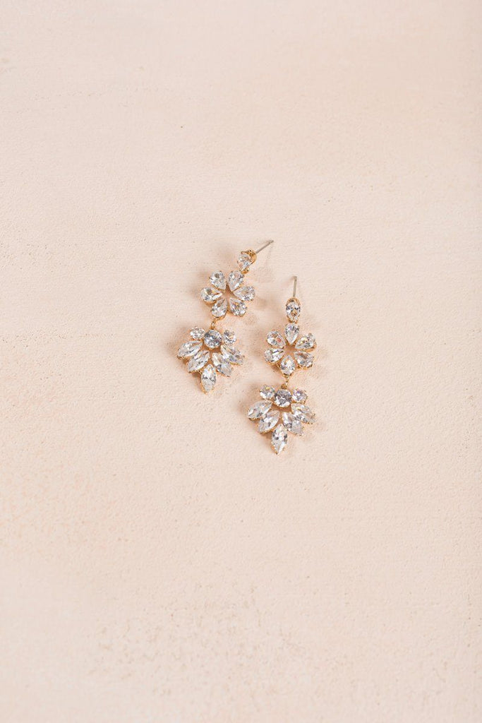 Taryn Crystal Dangle Earrings Earrings Joia Crystal