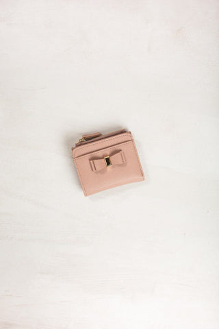Tiffie Bow Wallet Handbags MMS Dark Nude