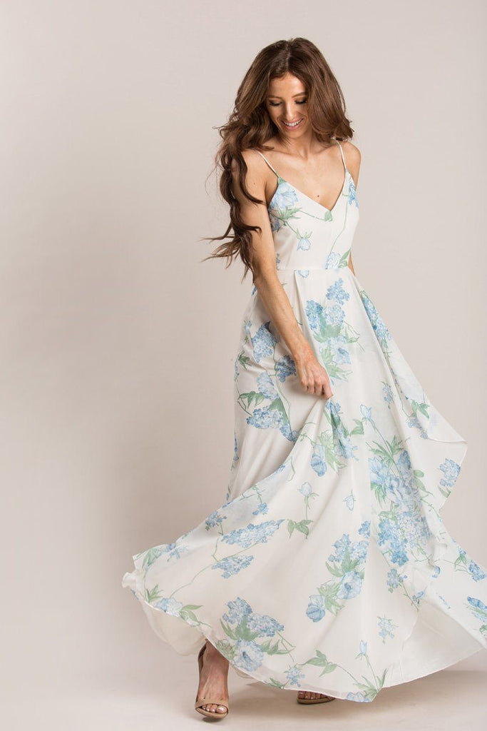 Elise Ivory Floral Maxi Dress Dresses Dress Forum Ivory X-Small