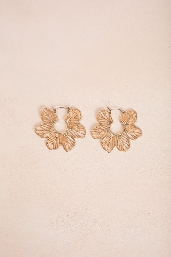 Kailee Gold Flower Earrings Earrings Fame Gold
