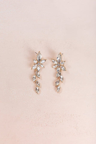Ciara Crystal Hang Earrings Earrings Joia