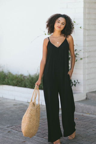 Kira V-Neck Flowy Jumpsuit Jumpsuits Final Touch