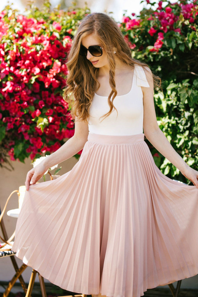 Hayden Pleated Midi Skirt Skirts Aakaa